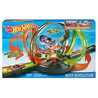 Hot Wheels Track di Roto Revolution impostare Crash & gara FDF26