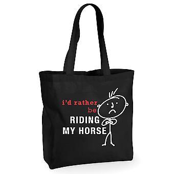 Mens אני ' די להיות רוכב הסוס שלי שחור קניות כותנה שקית