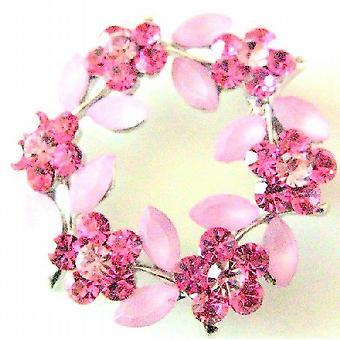 Rose Crystals rundt blomst krystaller sofistikert brosje