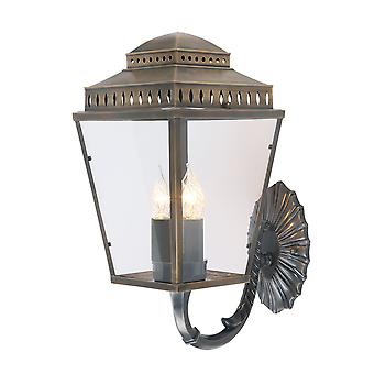 Mansion House BRass ściana latarnia - Elstead Lighting Mansionhs / Wb1 BR