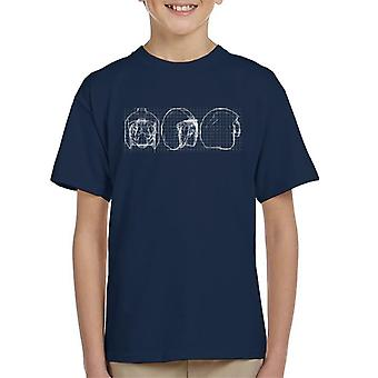 T-shirt original rebelde Stormtrooper capacete piloto Blueprint do miúdo