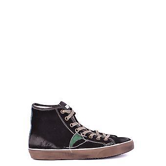 Philippe Modelo Ezbc019006 Men's Black Suede Hi Top Sneakers