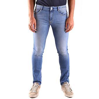 Pt05 Ezbc084043 Men's Blue Cotton Jeans