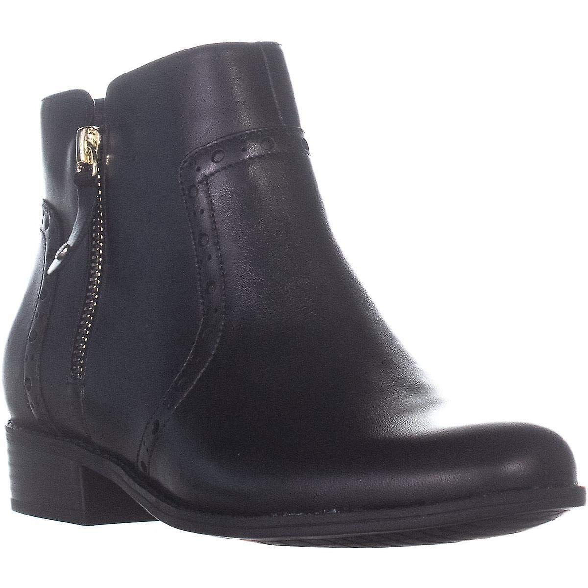 Giani Bernini Womens Nieve Leather Round Toe Ankle Fashion Boots