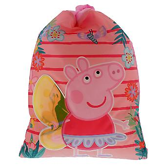 Peppa Pig Drawstring Sports Trainer Bag Pink