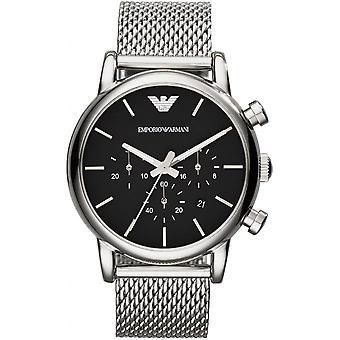 Emporio Armani AR1811 - reloj plata de hombre negro
