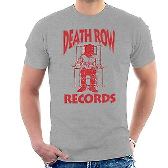 Death Row Records Chair Logo Red Men's T-Shirt