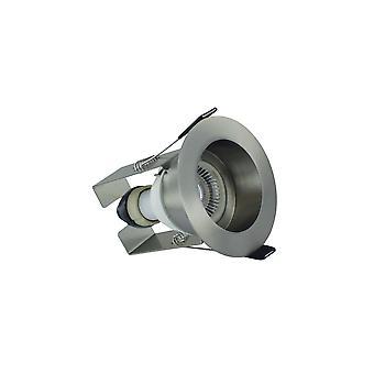 Integral - LED Fire Rated Downlight Spotlight Recessed Insulation Guard / GU10 Holder Satin Nickel - ILDLFR70E004