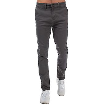 Mens Crosshatch Black Label Kelso Chino Pant In Grey