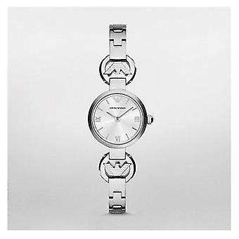 Emporio Armani Ar1775 Senhoras prata Gianni T bar aço Watch