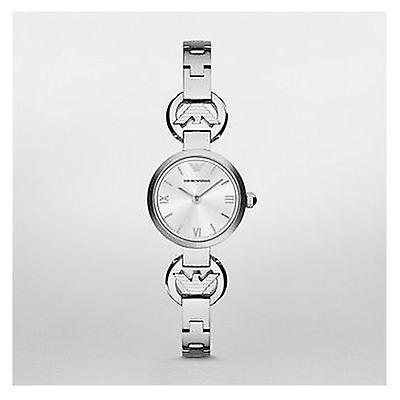Emporio Armani Ar1775 Ladies Silver Gianni T Bar Steel Watch