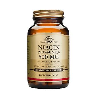 Solgar Niacin 500 mg  (Vitamin B3) Vegetable Capsules, 100