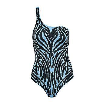 Paramidonna Ccmibl02 Dames's Blauw/zwart Polyester Uit één stuk Pak