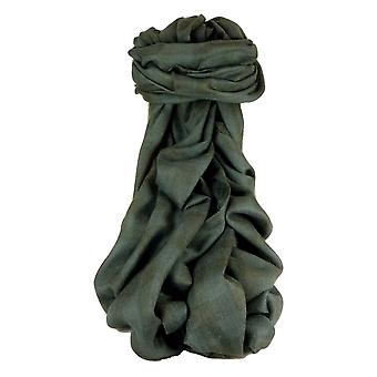 Cashmere Srinagar Muffler Scarf Large Check Charcoal by Pashmina & Silk
