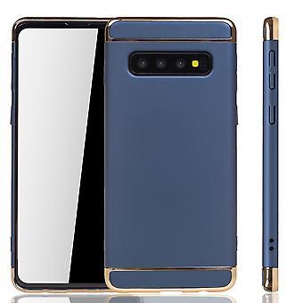 Samsung Galaxy S10 téléphone étui protection étui pare-chocs couverture rigide bleu
