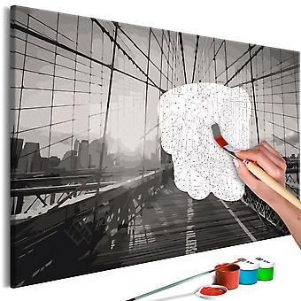 Doe-het-zelf op canvas schilderen - New York Bridge