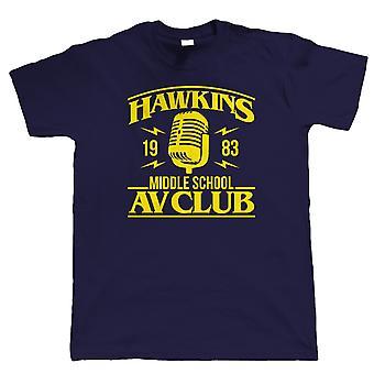 Hawkins Middle School AV Club, Mens T-Shirt - TV Inspired Geek Gift Him