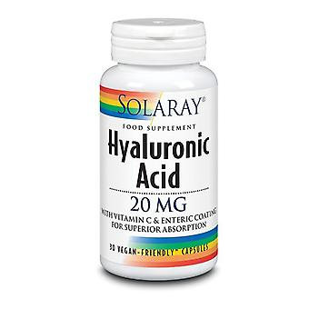 Solaray Hyaluronic Acid 20mg Capsules 30 (1967)