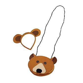 Bristol Novelty Bear Bag And Ears Set