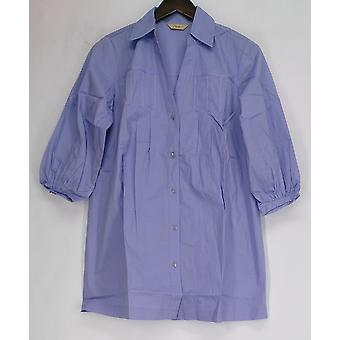 Motto 3/4 Sleeve Button Front Stretch Tunic Dusty Lavender A96536