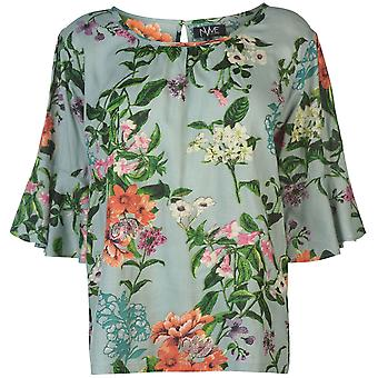 NVME Womens Blair V Top Ladies Short Sleeve Crew Neck T-Shirt Tee