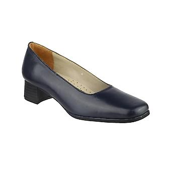Amblers Femmes Walford Ladies Leather Court Navy