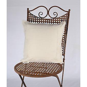 Hossner pillow case flower fine Shabby vintage country house cream crocheted 40x40 cm