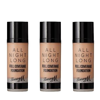 Barry M 3 X Barry M All Night Long Full Coverage Foundation - Almond