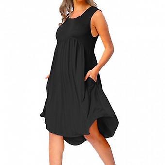 Drapert ermeløs MIDI kjole