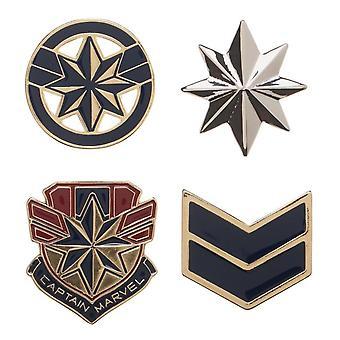 Captain Marvel Lapel Pin Set