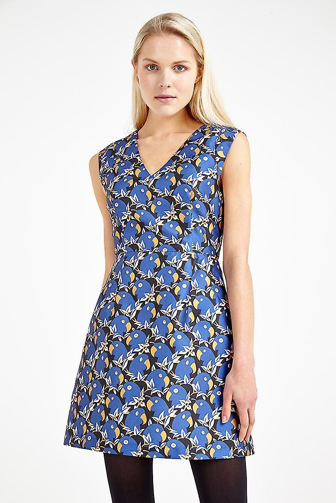 Louche Marbelle Parrot Print Dress Blue
