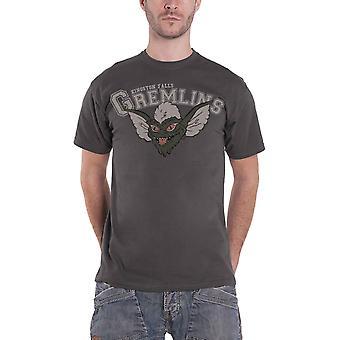 Gremlins T Shirt Kingston Falls Movie logo new Official Mens Grey