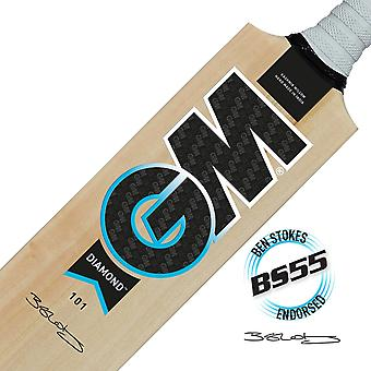Gunn & Moore GM Cricket Diamond 101 Ben Stokes Range Kashmir Willow Fledermaus - Egge