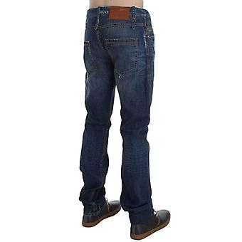 Blue Wash Cotton Denim Slim Fit Jeans -- SIG3606085