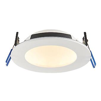 Saxby Lighting Orbitalpro Fire Rated Integrated LED Colour Changing Recessed Downlight Matt White IP65 71512