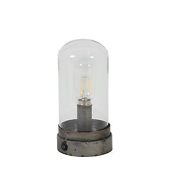 Işık & Canlı Masa Lambası Ø11x23 Cm KAOS Koyu Gri