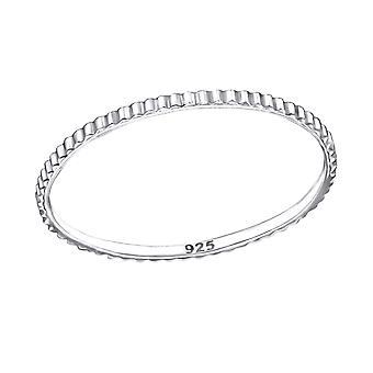 Gemusterte - 925 Sterling Silber Plain Ringe - W27613x