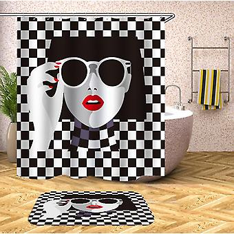 Red Lipstick Chic Lady Shower Curtain