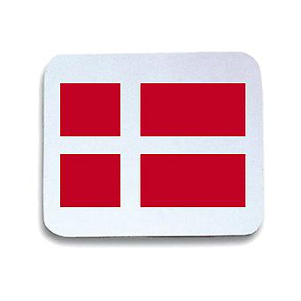 White mouse pad pad wtc1626 flag of denmark