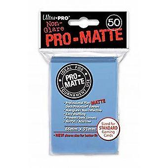 Protetores azuis claros padrão 50ct da plataforma do padrão de Pro-Matte (bloco de 12)
