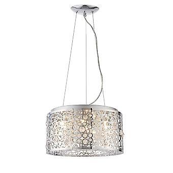 Endon Fayola 6 lys vedhæng lys Kromplade & klar krystal 81975