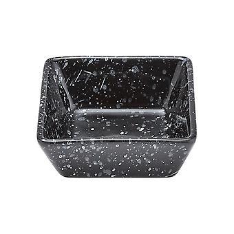 Ladelle Terrazzo Mini Square Bowl, Black