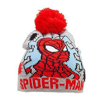 Spider-Man Boys Beanie Bobble Hat