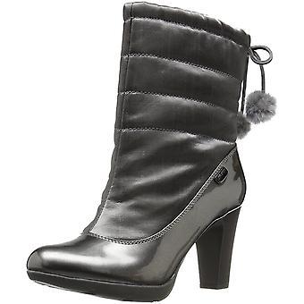 アン ・ クライン女子 Xhale 生地の冬のブーツ