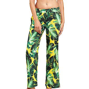 Féraud 3205090-16081 Women's Green Leaves Beach Pant