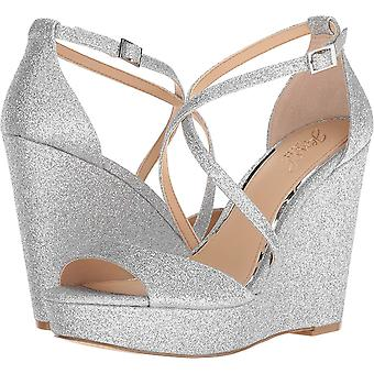 BADGLEY MISCHKA Womens Averie Fabric Open Toe Casual Platform Sandals
