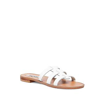 Steve Madden Frauen's Tammey Sandale weißes Leder 7,5 M US