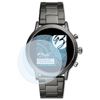 Bruni 2x Protecteur d'écran compatible avec Fossil The Carlyle HR Écran protecteur