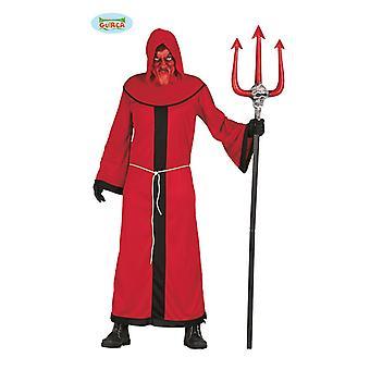 Disfraz de demonio para hombre rojo Belcebú diablo Halloween Carnaval