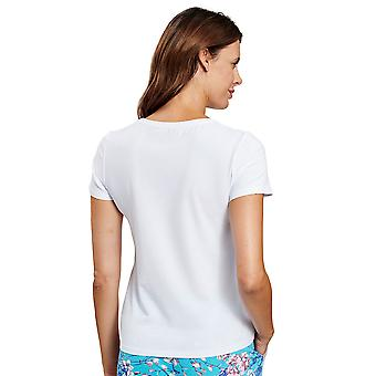 Rösch 1202033-11710 Naiset's Be Happy White Pyjama Top